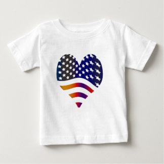 flag usa heart love american honor troops stripes shirt