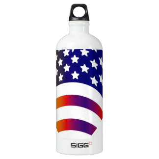 flag usa heart love american honor troops stripes water bottle
