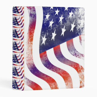 flag USA patriotic custom personalize Anniversary Mini Binder