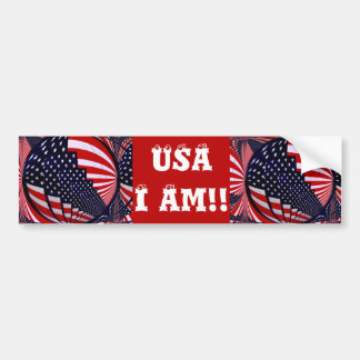 Flag-USA -Spread the Love_ Bumper Sticker