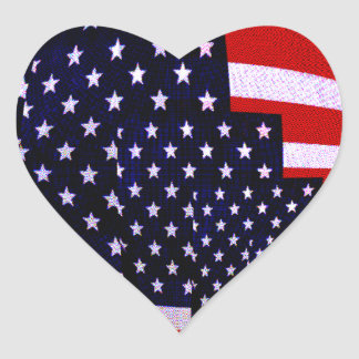 Flag-USA -Spread the Love_ Heart Sticker