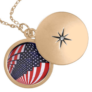 Flag-USA -Spread the Love_ Locket Necklace