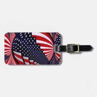 Flag-USA -Spread the Love_ Luggage Tag