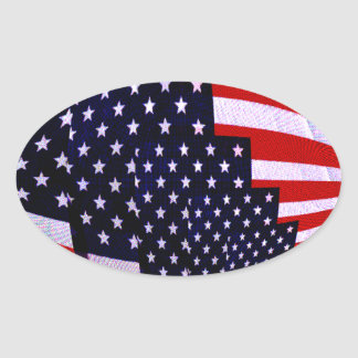 Flag-USA -Spread the Love_ Oval Sticker