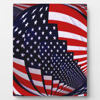 Flag-USA -Spread the Love_ Plaque