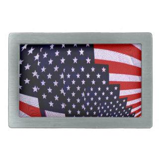 Flag-USA -Spread the Love_ Rectangular Belt Buckle