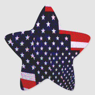 Flag-USA -Spread the Love_ Star Sticker