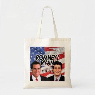 Flag w Photo Romney Ryan 2012 Canvas Bag