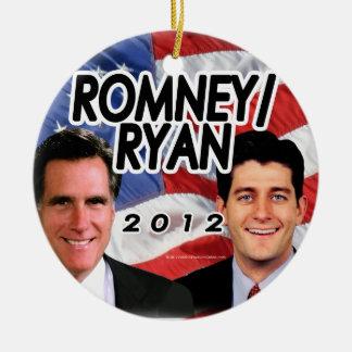 Flag w/Photo Romney/Ryan 2012 Ceramic Ornament