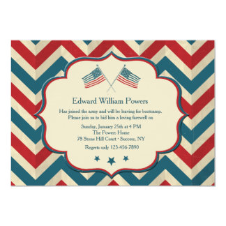 Flag Waving Colors Invitation