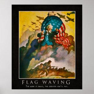 Flag Waving Parody Poster