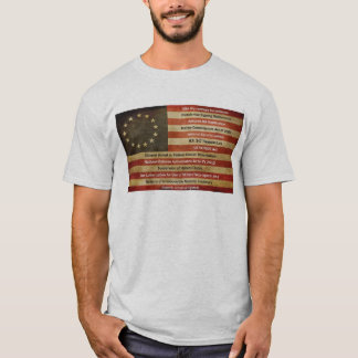 Flag Weathered by Violations of the Constitution T-Shirt
