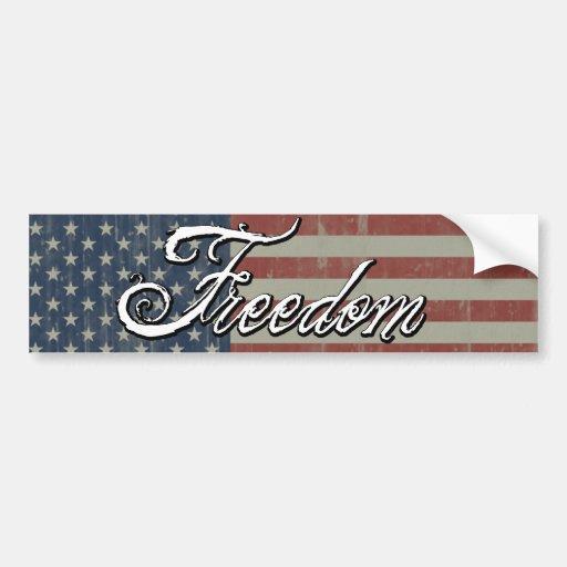 Flag with Freedom Bumper Sticker