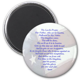 Flag with Lord's Prayer 2 Inch Round Magnet