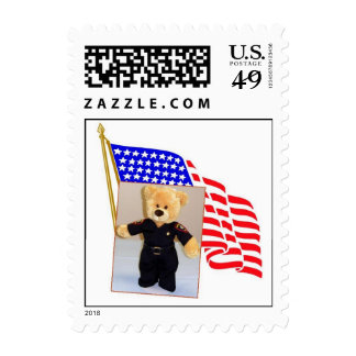 Flag with sheriff bear stamp
