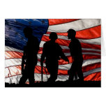 Flag with Soldier Silhouette Card