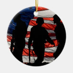 Flag with Soldier Silhouette Ornament