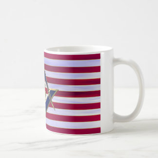 Flag with Square and Compasses Classic White Coffee Mug