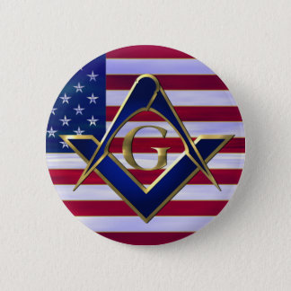 Flag with Square and Compasses Pinback Button