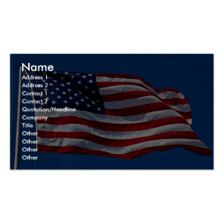 Flag with stars and stripes is flying high USA Business Cards