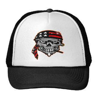 Flag Wrap Skull Trucker Hat