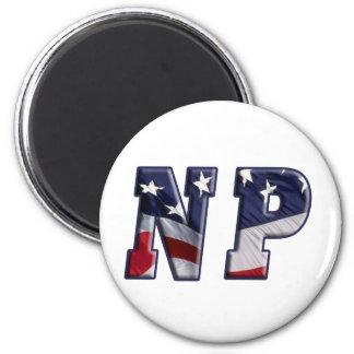 FLAG WRAPPED NP NURSE PRACTITIONER MAGNET