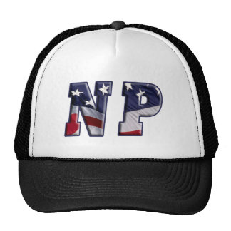 FLAG WRAPPED NP NURSE PRACTITIONER TRUCKER HAT