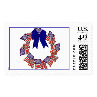 Flag Wreath Postage Stamps