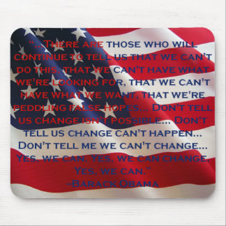 """Flag - """"Yes We Can"""" Speech Mouse Pad"""