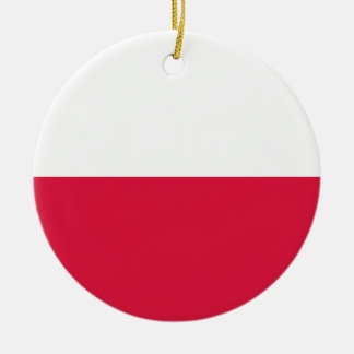 Flaga Polski - Polish Flag Ceramic Ornament