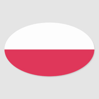 Flaga Polski - Polish Flag Oval Sticker