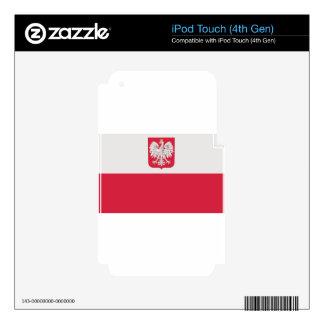 Flaga Polski z godłem - Flag of Poland iPod Touch 4G Decals