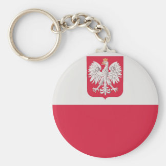 Flaga Polski z godłem - Flag of Poland Keychain