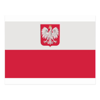 Flaga Polski z godłem - Flag of Poland Postcard