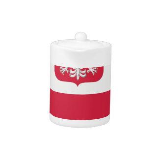 Flaga Polski z godłem - Flag of Poland Teapot
