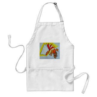 flagella amoeba art paint design original birthday adult apron