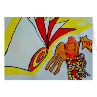 flagella amoeba art paint design original birthday card