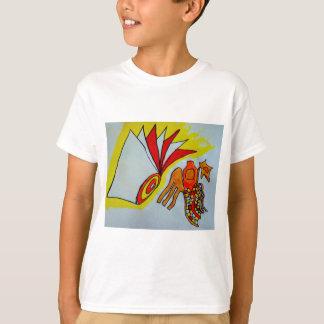 flagella amoeba art paint design original birthday T-Shirt