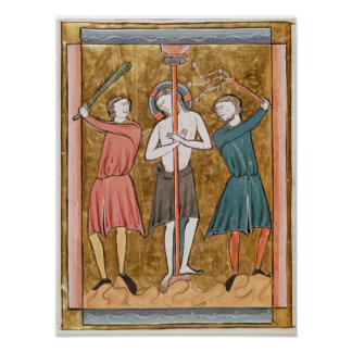 Flagellation from Psautier a l Usage de Paris Print