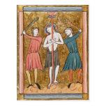 Flagellation, from 'Psautier a l'Usage de Paris' Postcard