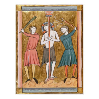 Flagellation, from 'Psautier a l'Usage de Paris' Postcard