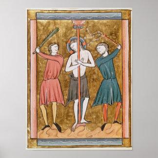 Flagellation, from 'Psautier a l'Usage de Paris' Poster