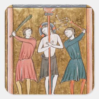Flagellation, from 'Psautier a l'Usage de Paris' Square Sticker