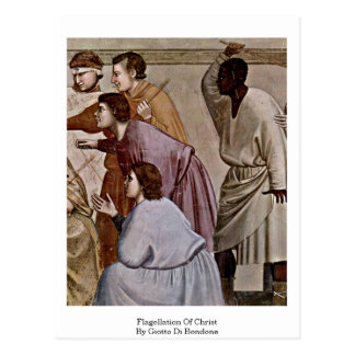 Flagellation Of Christ By Giotto Di Bondone Postcard