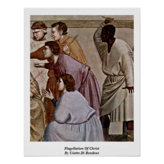 Flagellation Of Christ By Giotto Di Bondone Poster
