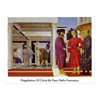 Flagellation Of Christ By Piero Della Francesca Post Card
