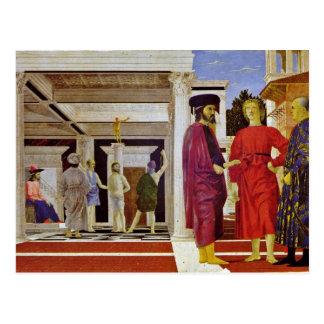 Flagellation Of Christ By Piero Della Francesca Postcard