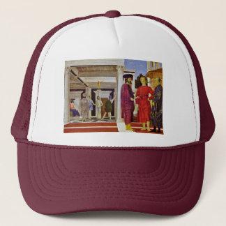 Flagellation Of Christ By Piero Della Francesca Trucker Hat