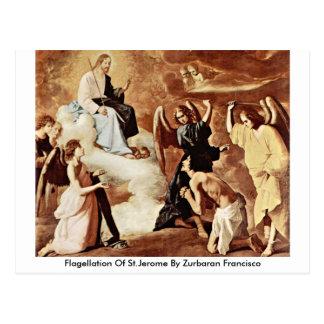 Flagellation Of St.Jerome By Zurbaran Francisco Postcard