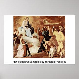 Flagellation Of St Jerome By Zurbaran Francisco Poster